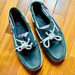 {SPERRY} Top Sider Plaid Accent Boat Shoes